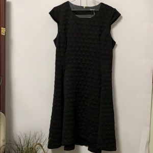 NWT DKNY BLACK FIT & FLARE ARMLESS DRESS SZ 14